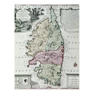 Karte von Korsika Postkarten