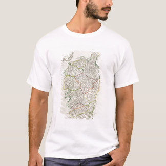 Karte von Korsika T-Shirt