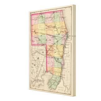 Karte von Landkreis St. Clair, Michigan Galerie Falt Leinwand