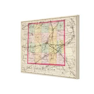 Karte von Lenawee Landkreis, Michigan Leinwanddruck