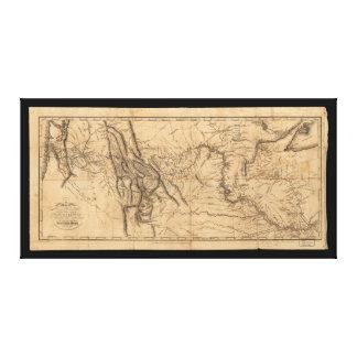 Karte von Lewis u. von Clark über Western Amerika Gespannte Galeriedrucke