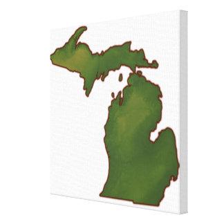 Karte von Michigan 4 Gespannter Galeriedruck