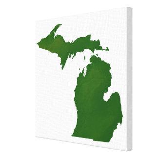 Karte von Michigan Galerie Faltleinwand