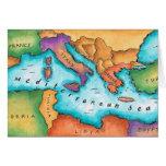 Karte von Mittelmeer