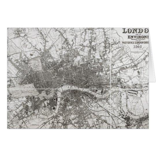 Karte von modernem London und von seiner Umgebung,