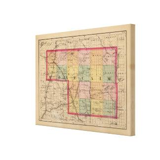 Karte von Montcalm County, Michigan Leinwand Drucke