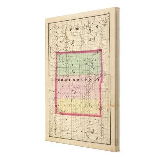 Karte von Montmorency County, Michigan Galerie Falt Leinwand