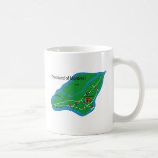 Karte von Montreal Kaffeetasse