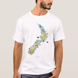 Karte von Neuseeland T-Shirt