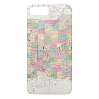 Karte von Ohio und von Indiana iPhone 8 Plus/7 Plus Hülle