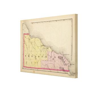 Karte von Presque Isle County, Michigan Gespannter Galeriedruck
