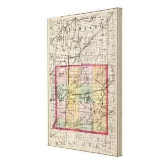 Karte von St- JosephLandkreis, Michigan Leinwanddruck