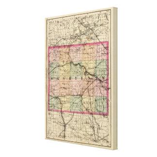Karte von Washtenaw County, Michigan Leinwanddrucke