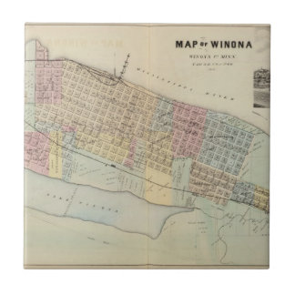 Karte von Winona, Minnesota Keramikfliese
