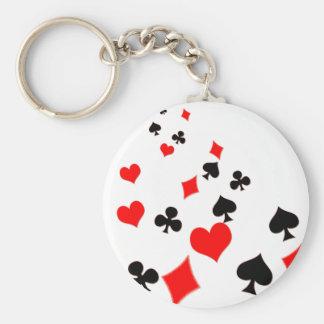 Karten-Anzüge Schlüsselanhänger