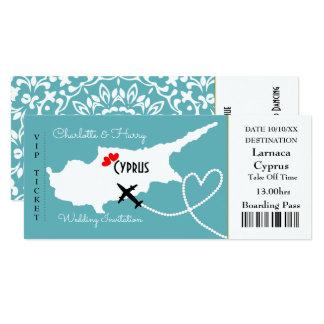 Karten-Boarding-Durchlauf-Hochzeits-Bestimmungsort 10,2 X 23,5 Cm Einladungskarte