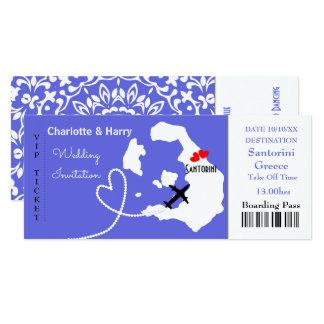 Karten-Boarding-Durchlauf-Hochzeits-Bestimmungsort Karte