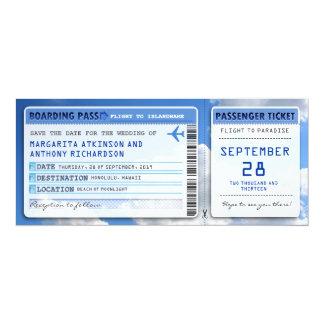 Karten des Boardingdurchlaufs Save the Date mit Personalisierte Einladungen