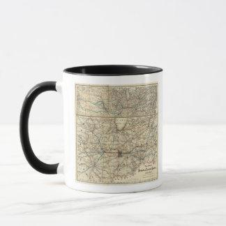 Karten, die das Indiana zeigen Tasse