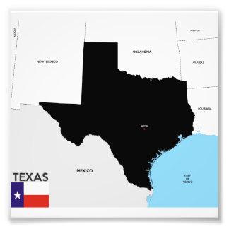 Karten-Formflagge Amerika Texas-Staat politische Kunstfotos