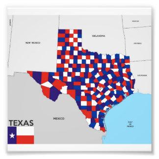 Karten-Formflagge Amerika Texas-Staat politische Photodruck