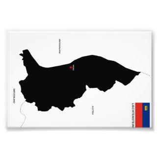 Karten-Formflagge Liechtenstein-Landes politische Fotodrucke