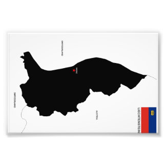 Karten-Formflagge Liechtenstein-Landes politische Foto