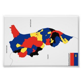 Karten-Formflagge Liechtenstein-Landes politische Kunst Fotos