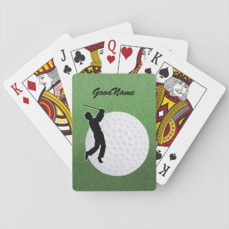 Karten für den Golfspieler, personifizieren mit Spielkarten