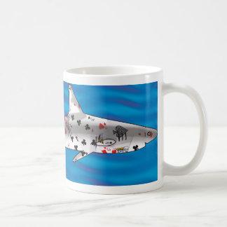 Karten-Haifisch Tasse
