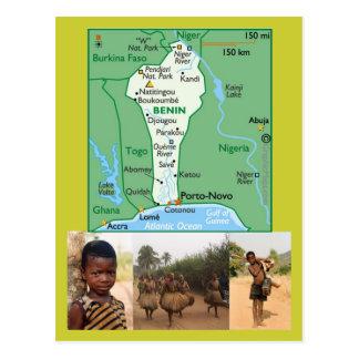 Karten-Postkarte von Benin Postkarte