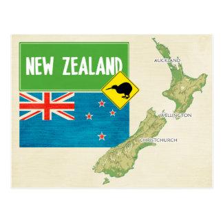 KARTEN-POSTKARTEN ♥ Neuseeland Postkarte