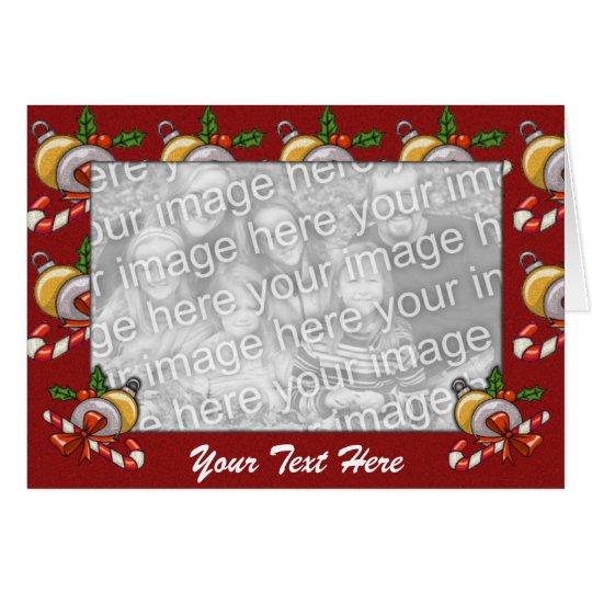 Karten-Schablone - Weihnachtsgrenze Grußkarte