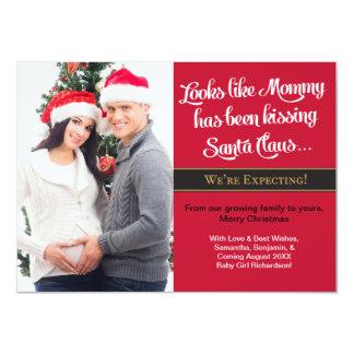 Karten-Schwangerschafts-Foto des WeihnachtenA6 - Karte