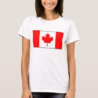 Karten-T - Shirt Kanada-Flaggen-x