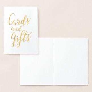 Karten und Geschenk-handgeschriebene