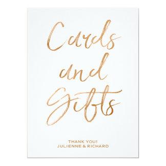 Karten und Geschenke, die stilvolle GoldRose des 16,5 X 22,2 Cm Einladungskarte