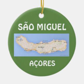Karten-Weihnachtsverzierung Sao-Miguels Acores Keramik Ornament
