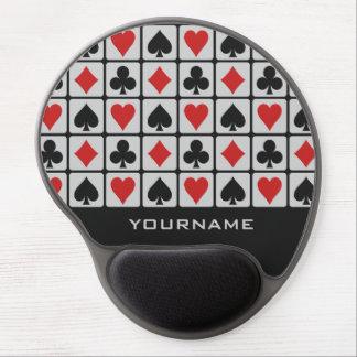 Kartenspieler-Gewohnheit mousepad Gel Mousepads