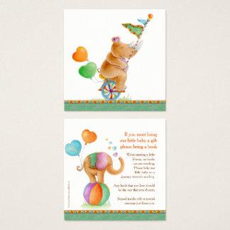 KartentierZirkuskunst des Babypartybuches gifting Quadratische Visitenkarte