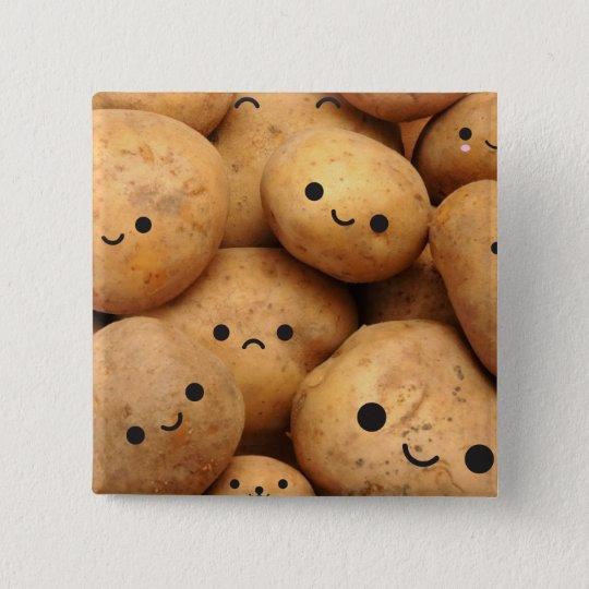 Kartoffeln Quadratischer Button 5,1 Cm