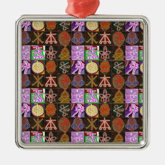 KARUNA Reiki = Geschenke des kosmischen Heilens Quadratisches Silberfarbenes Ornament