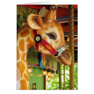 Karussell-Giraffen-Gruß-Karte Karte