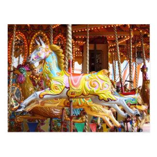 Karussell-Pferd Postkarte