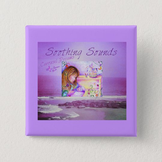 Karussell träumt lila Ozean-Quadrat-Knopf Quadratischer Button 5,1 Cm