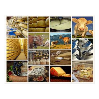 Käse, Milchprodukt, Nahrung, essen, käseplatte Postkarte