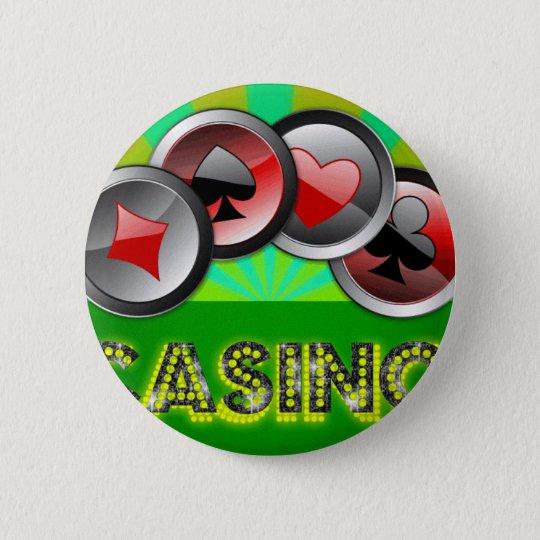 Kasino-Leben Runder Button 5,7 Cm