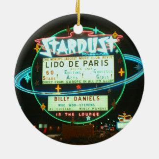 Kasino-Leuchtreklame Fünfzigerjahre Las Vegass Keramik Ornament