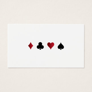 Kasino-Spiel-Visitenkarte Visitenkarte