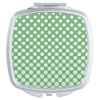 Kaskade groß zum Limonen Grün der kleinen weißen Taschenspiegel